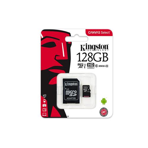KINGSTON CANVAS SELECT 128GB MICROSD